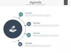 Four Staged Financial Agenda Slide Powerpoint Slides