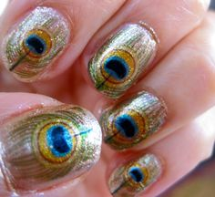 Oshun Nail Decals River Orisha of Love Peacock by chachacovers, $5.00 great price I must try