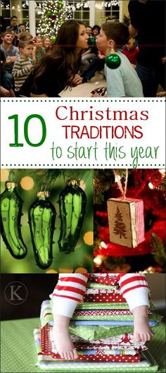 25 Fun Christmas Traditions to Start This Year - Fun-Squared - 10 Fun Family Christmas Tradition Ideas. I really like the Christmas letter to a loved one left on the tree each year!