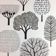 45 Ideas for screen printing poster illustration Doodle Drawings, Doodle Art, Flower Drawings, Doodle Trees, Art And Illustration, Illustrations, Pattern Illustration, Drawn Art, Tree Art