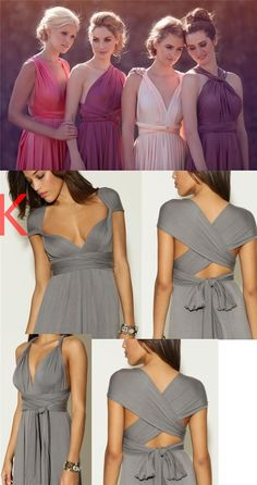 New Cheap Affordable Formal Comfortable Different Color Convertible Bridesmaid Dresses, PD0375