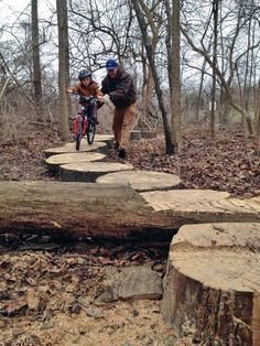 Lily Pad obstacle from Gators Bike Park in Ohio. Photo from IMBA Facebook. https://www.facebook.com/IMBAonFB/posts/10153533083638628:0