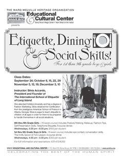 Ettiquette Classes | Long Island Community Events Nassau Suffolk Hamptons New York