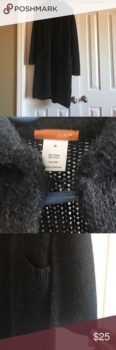 Long cardigan Dark grey long cardigan,  EUC, no signs of wear J. Crew Sweaters Cardigans