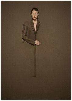 Hussein Chalayan, Atlantis Gallery, 2000 Man in Brown blends with Brown Wall Hussein Chalayan, Editorial Fashion, Fashion Art, Fashion Design, Emo Fashion, Gothic Fashion, Light Photography, Fashion Photography, Camouflage