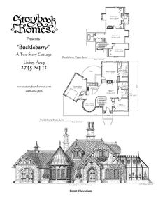 "Storybook Cottage House Plans the ""calderby"" cottagesamuel hackwell of storybook homes"