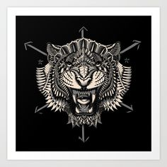 Buy Eye of the Tiger Art Print by bioworkz. Worldwide shipping available at Society6.com. Just one of millions of high quality products available.