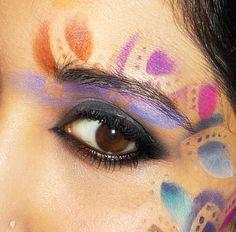 Bright Multicolor Stenciled Eye Makeup
