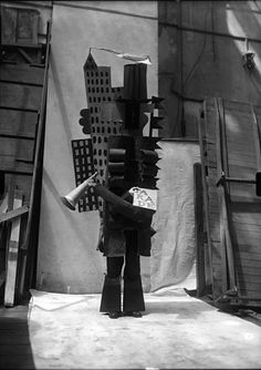 Pablo Picasso – Costume for Parade, 1917. Photograph by Lachmann.