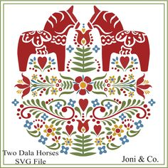 Scandinavian Pattern, Scandinavian Folk Art, Swedish Christmas, Scandinavian Christmas, Swedish Wedding, Local Craft Fairs, Horse Pattern, Swedish Design, Illustrations