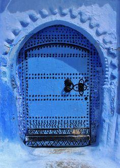 4- Puerta en Chefchaouen (Marruecos).