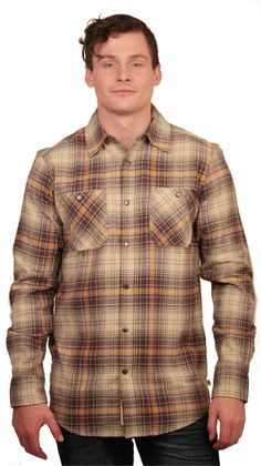 The Dakota Grizzly Men's Easton Flannel Shirt provides comfort and style which can be worn at anytime. Product Features: - Button down - Long sleeves - Plaid print - Regular fit - Two chest pockets wi