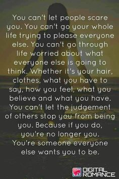 Exactly... you can't walk on eggshells and still be criticized for what you do just say to hell with it and be yourself