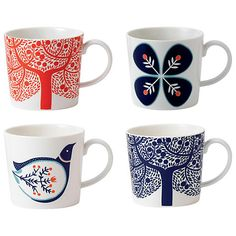 Looking for the best price on Royal Doulton - Fable Accent Mug Set Try Peter's of Kensington, Sydney Australia. Why in the world would you shop anywhere else for Royal Doulton? Royal Doulton, Deco Table, A Table, Scandinavian Pattern, Scandinavian Mugs, Scandinavian Style, Relax, Home Living, Living Room