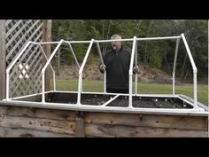 Build A Mini Greenhouse For Raised Beds - YouTube, Havent watched but looks like it could be unassembled for summer