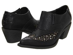 Roper Vintage Studded Shoe Boot Black - Zappos.com Free Shipping BOTH Ways.  Size 7 if anybody is in touch with Santa.  :-)
