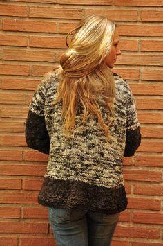Chaleco Mujer,  Abrigo lana, Abrigo Mujer, Chaleco lana, Chaleco tejido, Abrigo tejido, Chaleco Gris,
