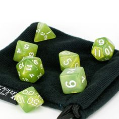 PRISTINE EDITION – The olive green set is a member of our Pristine Edition – guaranteed to be some of the best looking dice around Hand Selected – Quality is ch