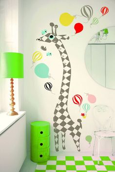 "Vinilo ""Giraffe Harlequin"" en #shopnordico #littlephant #estilonordico #decoraciónnordica #decoracióninfantil"