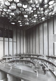 The Federal Assembly interior, Prague, 1970s