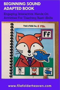 """This Fox Adapted Book And Activities: """"A Fickle Fox,"""" focuses on the beginning/initial F sound and serves as a good review for students revisiting this sound. Preschool Letters, Preschool Themes, File Folder Games, Beginning Sounds, Hands On Activities, Initials, Fox, Students, Teaching"""
