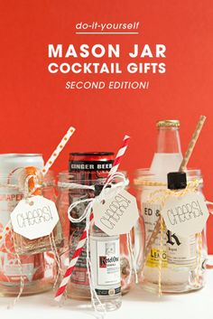 Make these xl mason jar cocktail gifts jar gift and christmas how to make your own mason jar cocktail gifts best gifts ever solutioingenieria Image collections