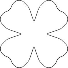 Flower 4 Petal Heart Template by BAJ - Flower 4 Petal Heart Template is part of a collection of Flower Templates that can be stacked, combined, swapped, sized, colored, patterned to your preference. This template is also the basic clover leaf shape. Cut by hand or cutting machine. Add embellishments.