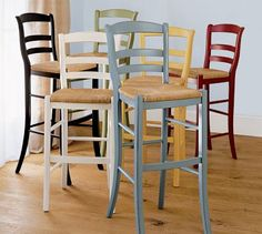 looking for barstools. like these pottery barn ones, simple and classic