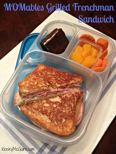 School Lunch Made Easy: MOMables Monday - Grilled Frenchman Sandwich
