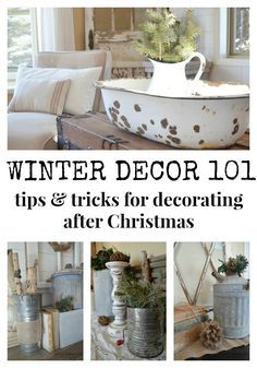Simple Winter Decorating Tips & Tricks. Tips for Decorating your Home after Christmas.