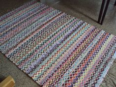 Recycled Fabric, Recycled Crafts, Loom Weaving, Hand Weaving, Textiles, Rag Rugs, Woven Rug, Rug Making, Rug Weaves