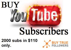 Your channel needs subscribers to attract organic subscribers. Let us help you today! buy YouTube subscribers. Start today and Buy 2000 Real YouTube subscribers for $110. #Buy #youtube #subscribers and #subscribers on #YouTube.