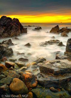 Greyhope Bay in Aberdeen, Scotland