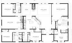40x60 barndominium floor plans - Google Search                                                                                                                                                                                 More