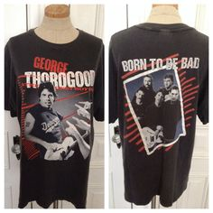 Vintage 80s George Thorogood concert t shirt on Etsy, $38.00