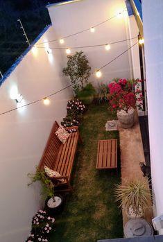 Small Balcony Decor, Balcony Design, Small Backyard Gardens, Backyard Patio Designs, Minimal House Design, Back Garden Design, House Plants Decor, Indian Home Decor, Home Room Design