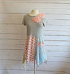 Womens Upcycled Lace Tunic / Floral Frock / by AmadiSloanDesigns, $72.00