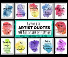 It's about the making not what is being made! Be an artist! Let these artist quotes encourage each of you toembrace creativity in whatever form suits you!