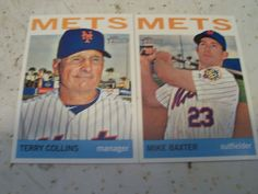 2013 Topps Heritage Mike Baxter Terry Collins New York Mets 2 Card Lot Mint | eBay
