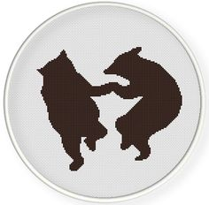INSTANT DOWNLOAD,Free shipping,Cross stitch pattern, PDF,Dance bears,zxxc0634 by danceneedle on Etsy