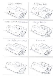 Jungs werden MacQueen in der logopädischen Therapie lieben. Bekannt ist MacQueen aus Cars, dem Film von Pixar. Und nun gibt es ihn als Vorbild für mundmoto Therapiematerial für die Logopädie zu myofunktionelle Störung auf madoo.net