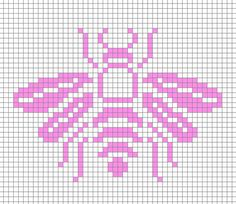 Cross Stitch Embroidery Bee embroidery pattern by Cate Anevski. Black on yellow? Bee Embroidery, Cross Stitch Embroidery, Embroidery Patterns, Cross Stitch Charts, Cross Stitch Designs, Cross Stitch Patterns, Fair Isle Chart, Cross Stitch Animals, Tapestry Crochet
