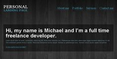 Personal landing page WP single page theme