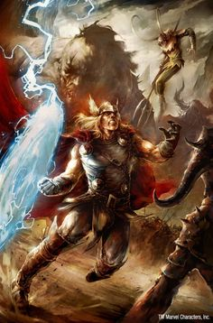 Comic Book Art: The Might Thor by Blaz Porenta Poster Marvel, Poster Superman, Posters Batman, Marvel Comics Art, Marvel Heroes, Batman Vs, Loki Thor, Thor Marvel, Captain Marvel