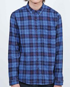 Get this awesome blue hued checks alternating in dark and light blocks mens flannel shirts with superior effect only at Flannel Clothing. Place a bulk order today. Flannel Outfits, Flannel Clothing, Mens Flannel Shirt, Blue Check, Check Shirt, Color Trends, Guy Shirts, Ink Blue, Bulk Order