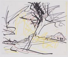 Frank Auerbach, Study for a Tree on Primrose Hill on ArtStack #frank-auerbach #art