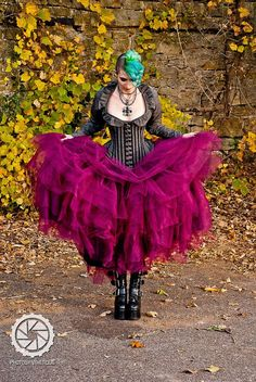 Bridal Steampunk Tulle Skirt in Intense Colors Petticoat Fairytale- Custom to order. $225.00, via Etsy.