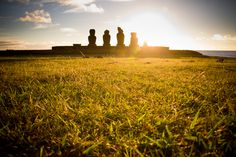 Sunset Moai by Emily Benjamin on 500px