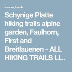 Schynige Platte hiking trails alpine garden, Faulhorn, First and Breitlauenen - ALL HIKING TRAILS LISTED