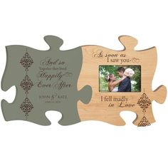 Wedding Photo Frame Personalized - And So Together They Lived Happily Ever After